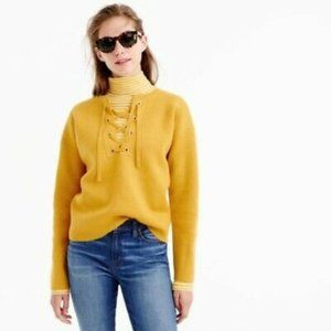 J.CREW Collection Women's bonded lace-up sweater